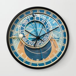Closeup on Prague Astronomical Clock Wall Clock