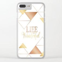 Copper gold Clear iPhone Case