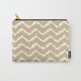 Ragged Chevron - Taupe/Cream Carry-All Pouch