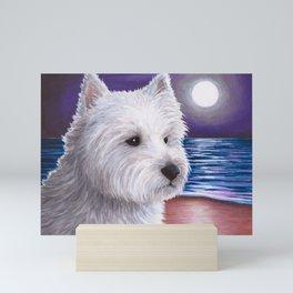 Dog 81 White Westie Dog Mini Art Print