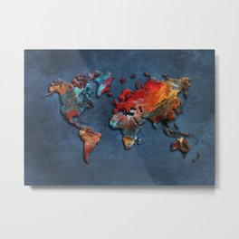 World Map 2020 Metal Print