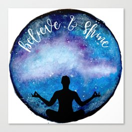 yoga universe Canvas Print
