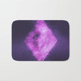 Diamond symbol. Playing card. Abstract night sky background Bath Mat
