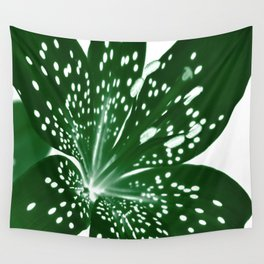 Lily Infrared In Green Wall Tapestry
