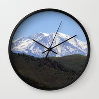 colorado Wall Clocks featuring Colorado by BACK to THE ROOTS