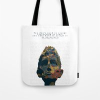 kafka Tote Bags featuring Kafka by Ned & Ems