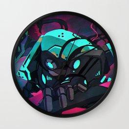 Fantastic Futuristic Cyber Punk Cyborg Girl Neon Lightsaber Ultra HD  Wall Clock
