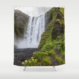Skogafoss Iceland Ultra HD Shower Curtain