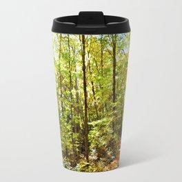 Sunlit Forest in Autumn Travel Mug