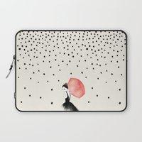 elegant Laptop Sleeves featuring Polka Rain by Karen Hofstetter