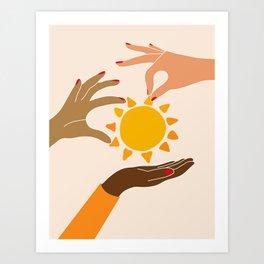 Our sun Art Print