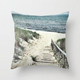 Saugatuck Beach Throw Pillow