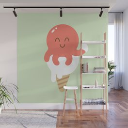 Octopus Ice-cream Wall Mural