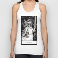 tarot Tank Tops featuring Justice Tarot by Corinne Elyse