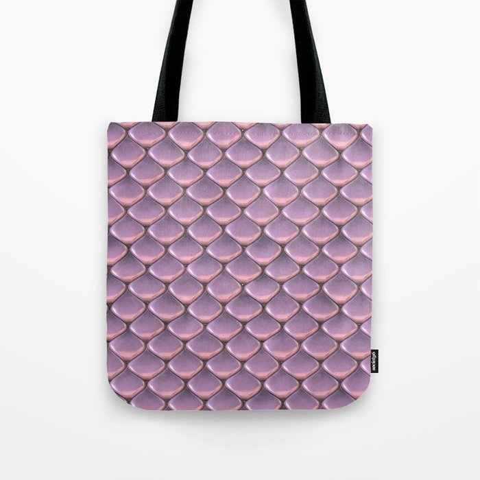 Pink Snake Skin mermaid scales Tote Bag