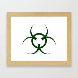 Bio Hazard Symbol Framed Art Print