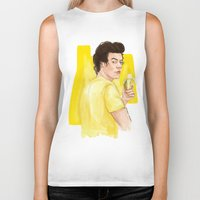 coconutwishes Biker Tanks featuring Harry is all yellow by Coconut Wishes