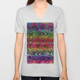 Waving Neon Unisex V-Neck