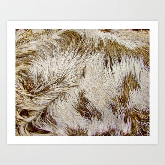 Boca Sloth coat  Art Print