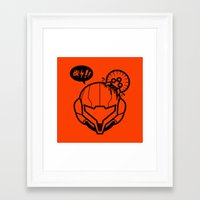 samus Framed Art Prints featuring Samus by La Manette