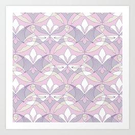 Interwoven XX - Orchid Art Print