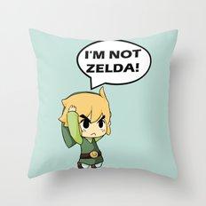 I'm not Zelda! (link from legend of zelda) Throw Pillow