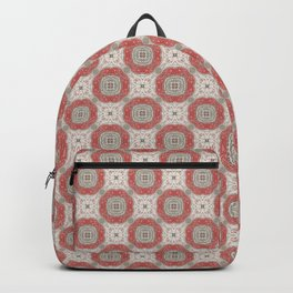Coral Geometric Pattern # 2 Backpack