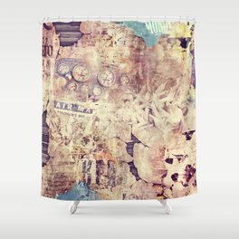 Air mail Shower Curtain
