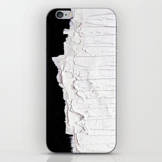 Black, White & White iPhone & iPod Skin