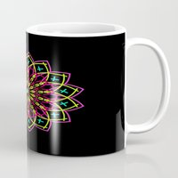 stained glass Mugs featuring Stained Glass by Designs By Misty Blue (Misty Lemons)