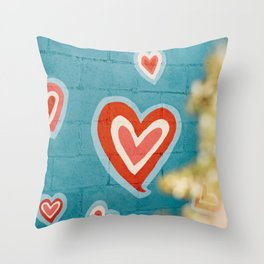 Love Street Art Throw Pillow