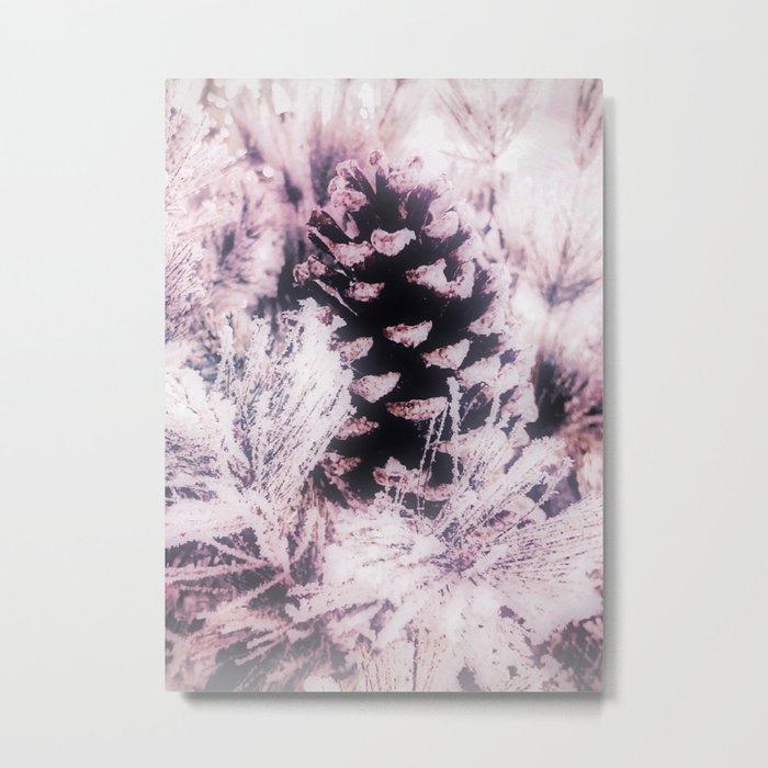 White Pine, Christmas Snowfall Metal Print