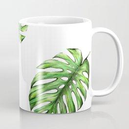 Monstera green leaves Coffee Mug