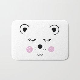 Cute bear illustration Bath Mat