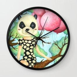 Panda Girl Wall Clock