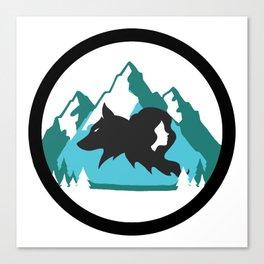 Goldilocks and the Wolf Canvas Print