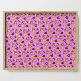 Hammy Pattern in Pink Serving Tray