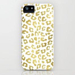Glam Gold Cheetah Animal Print iPhone Case