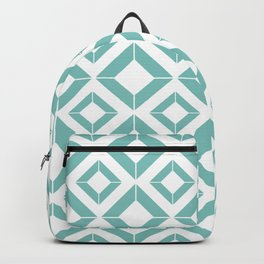 Abstract geometric pattern - blue and white. Backpack