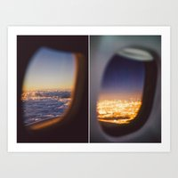 planes Art Prints featuring Planes by Amanda Lily
