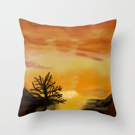 Canary island Throw Pillow
