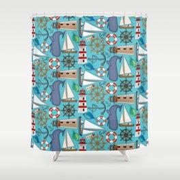 Nautical Goodies Shower Curtain