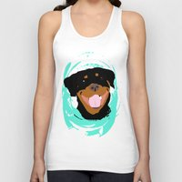 rottweiler Tank Tops featuring Rottweiler graphic on Mint by Moni & Dog