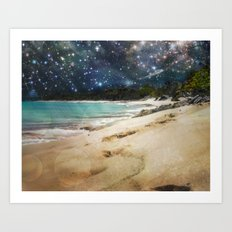 Midnight Beach Art Print