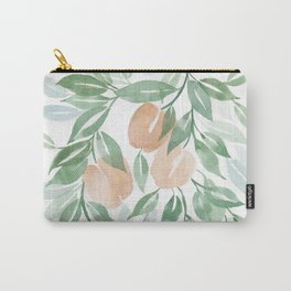 Peach Tree Carry-All Pouch