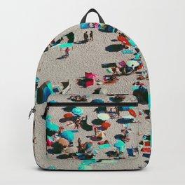 Pastel Beach Umbrellas (Color) Backpack