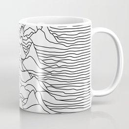 Black and white graphic - sound wave illustration Coffee Mug