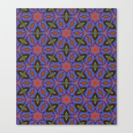 Vibrant blue hexagons Canvas Print