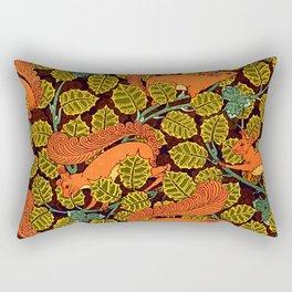 Red squirrel pattern - I love squirrels wildlife animal Rectangular Pillow