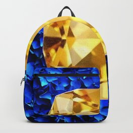 LARGE CHAMPAGNE TOPAZ GEM SEPTEMBER BIRTHSTONE ART Backpack